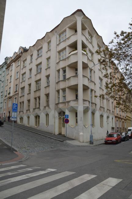 Cubist House in Neklanova street
