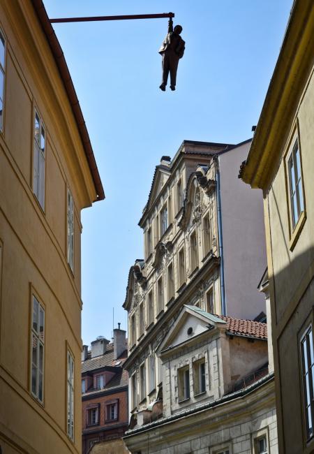 Hanging man by David Černý