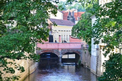 Lovers bridge over Čertovka
