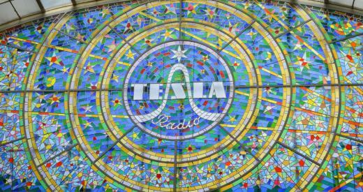 Tesla Radio Stained glass