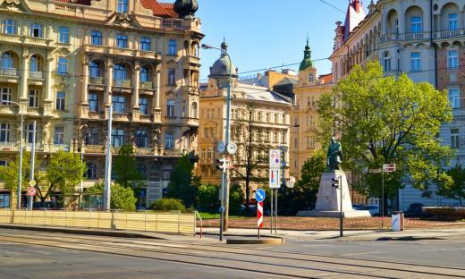 The statue of Alois Jirasek