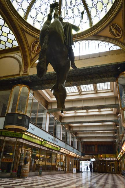Upside-Down Statue of King Wenceslas Riding a Dead Horse